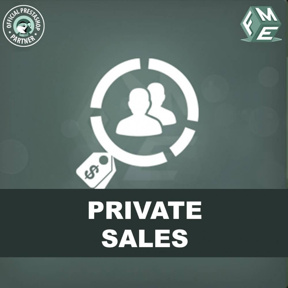 module - Ventes Flash & Ventes Privées - Catégorie privée, vente pour groupes de clients VIP - 1