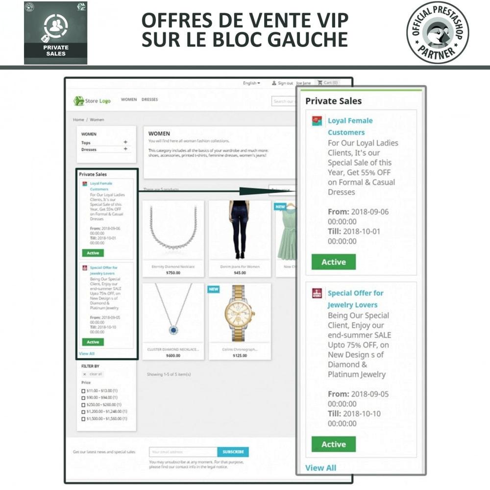 module - Ventes Flash & Ventes Privées - Catégorie privée, vente pour groupes de clients VIP - 2