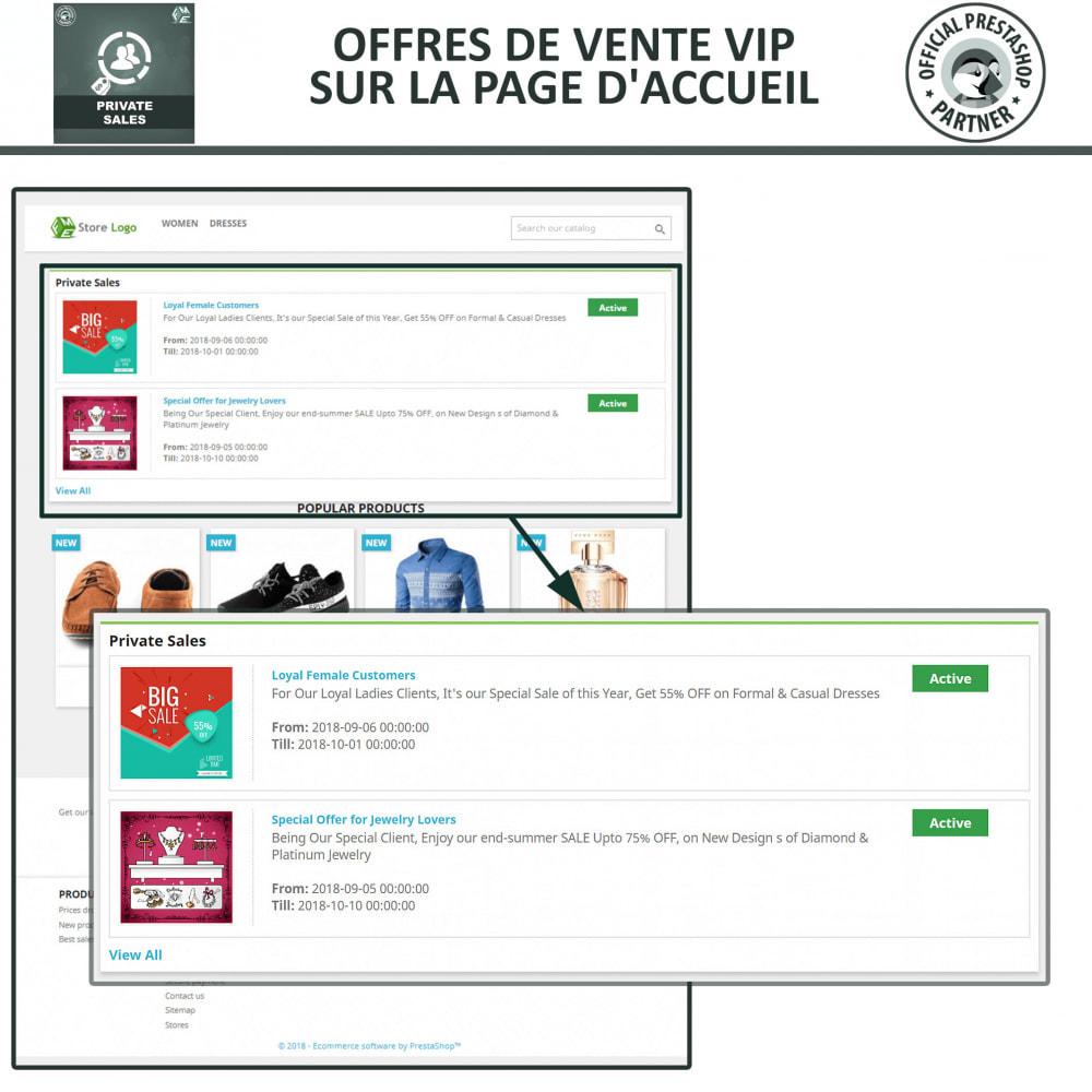module - Ventes Flash & Ventes Privées - Catégorie privée, vente pour groupes de clients VIP - 3