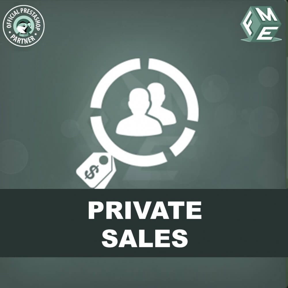 module - Ventas Privadas y Ventas Flash - Categoría privada, venta para grupos de clientes VIP - 1