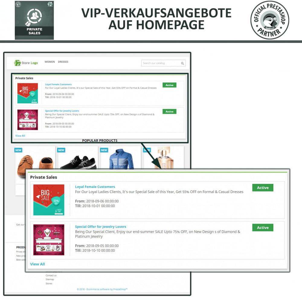 module - Flash & Private Sales - Private Verkauf für VIP-Kundengruppen - 3