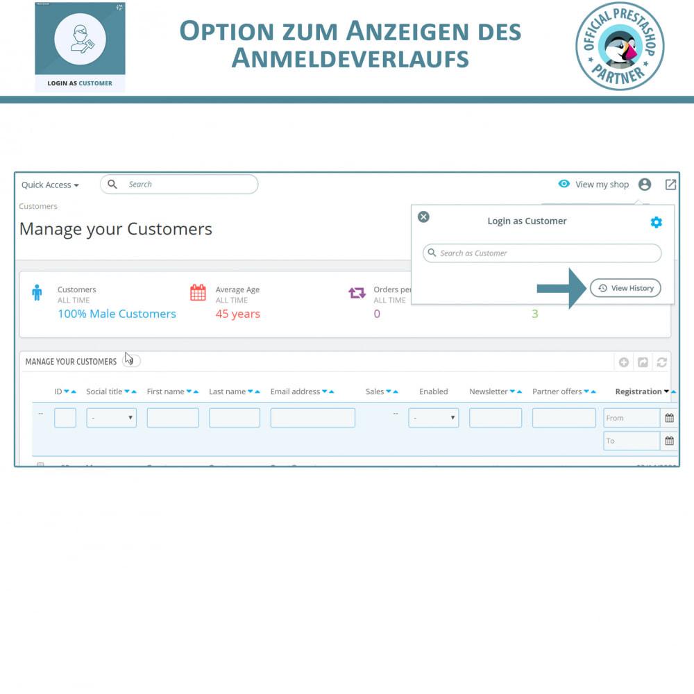 module - Kundenservice - Melden Sie sich als Kunde an - 5