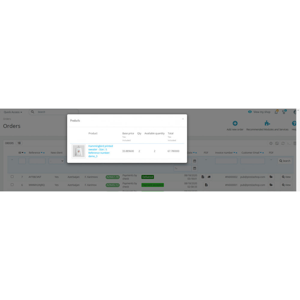 module - Order Management - Search by Invoice Number & Check Order Details Module - 4