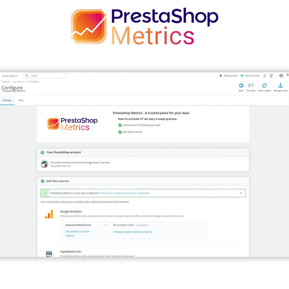 module - Analizy & Statystyki - PrestaShop Metrics - 2
