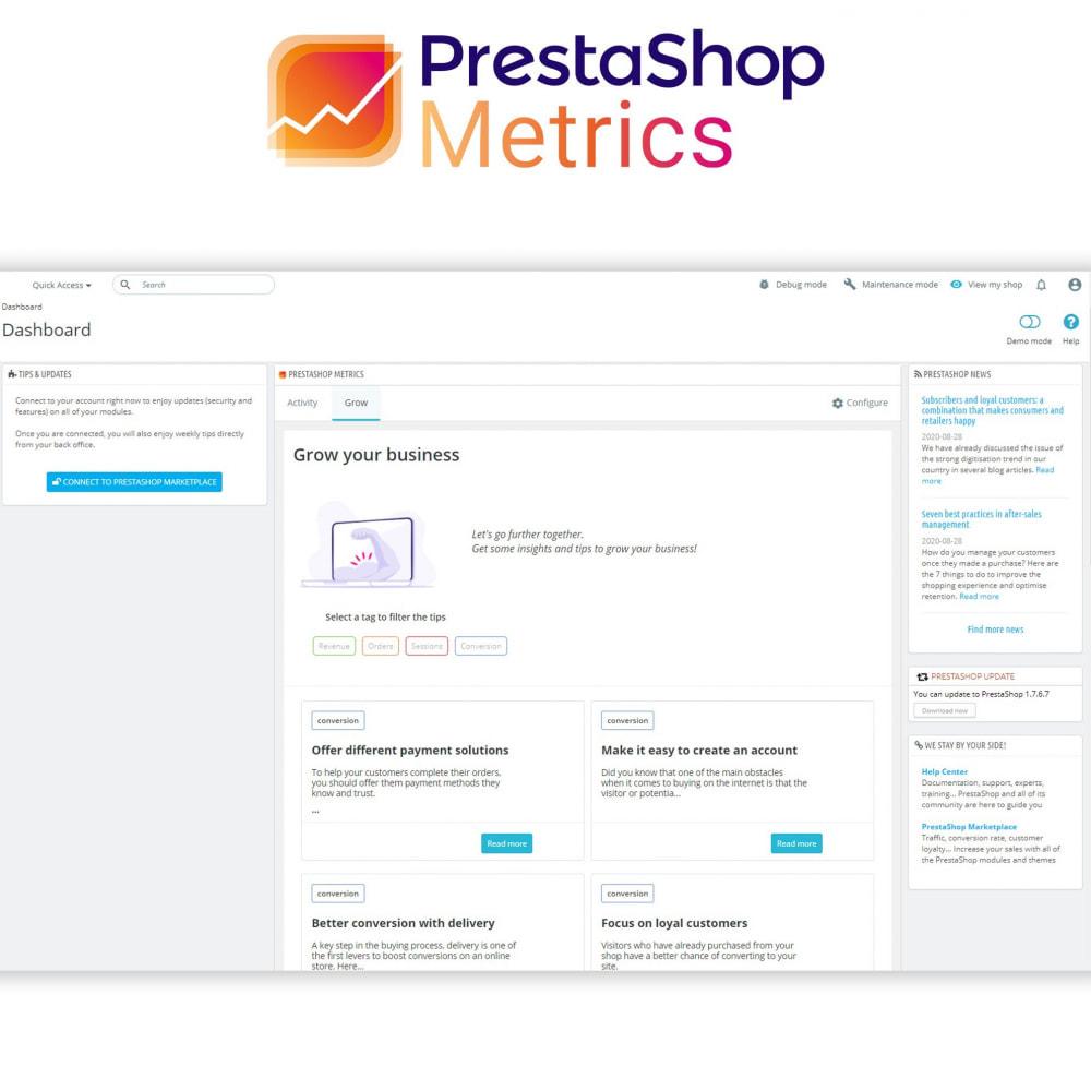 module - Analysen & Statistiken - PrestaShop Metrics - 5