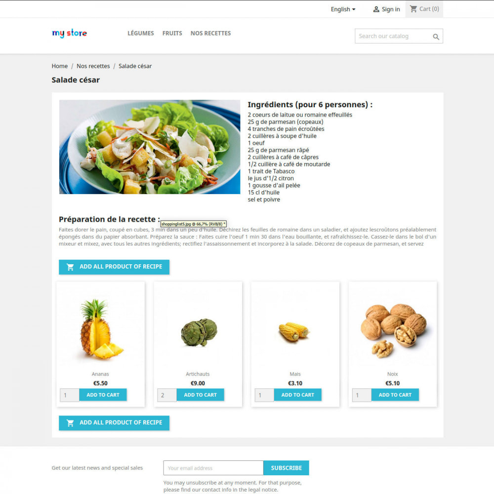 module - Lebensmittel & Restaurants - Cookbook - 1