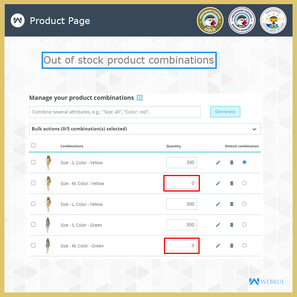 module - Combinations & Product Customization - Hide or Disable Attributes With Stock - 5