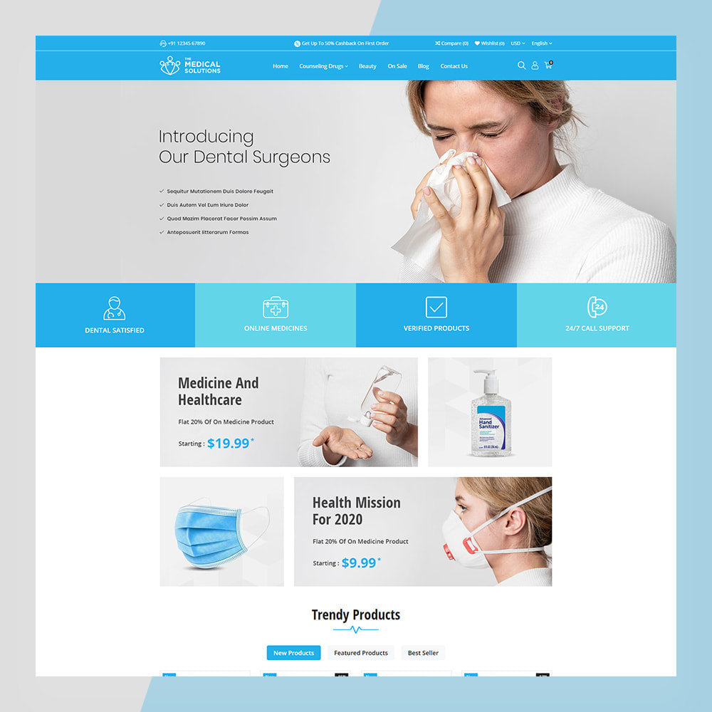 theme - Zdrowie & Uroda - Medical Solutions - Medical and Medicine Store Template - 3