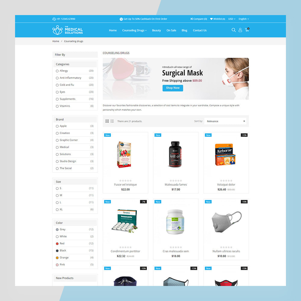 theme - Zdrowie & Uroda - Medical Solutions - Medical and Medicine Store Template - 9