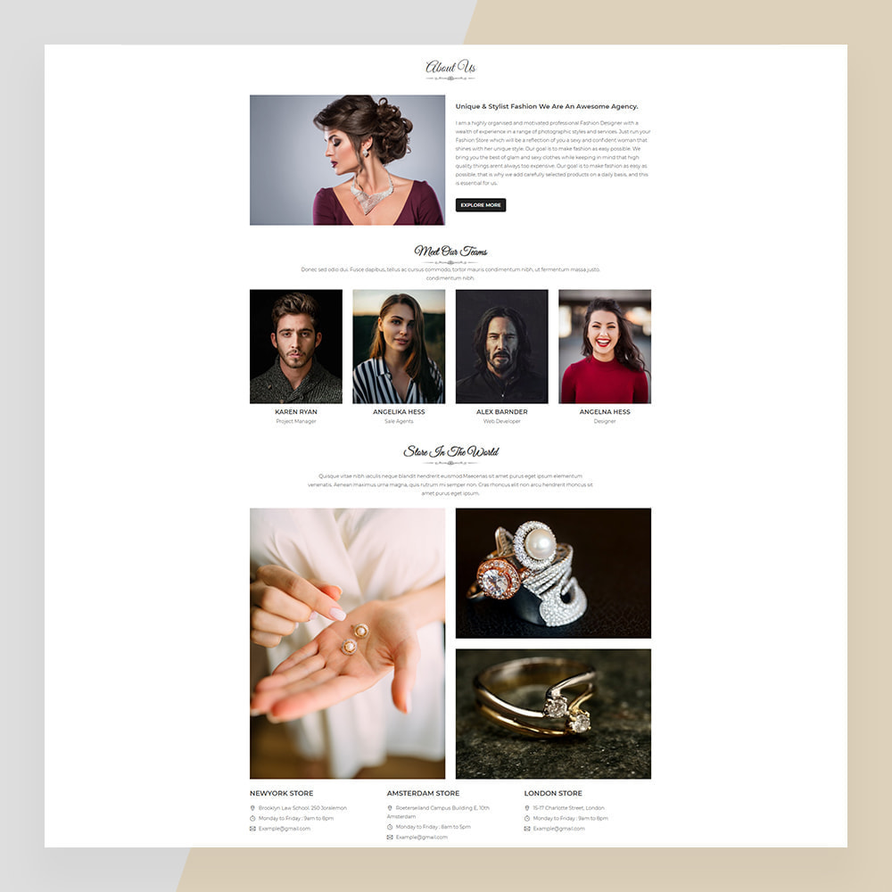 theme - Bellezza & Gioielli - Emerald Jewelry - Jewellery & Accessories Template - 5