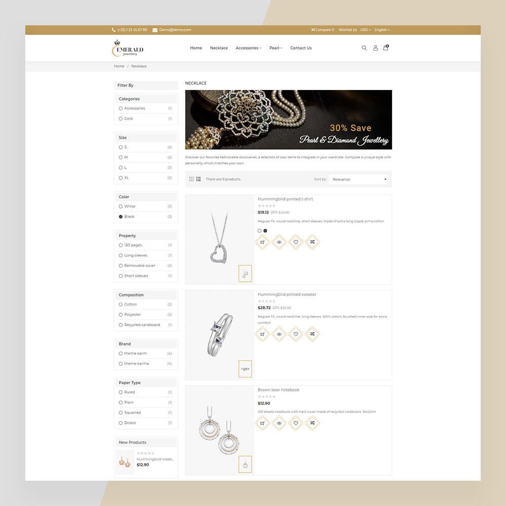 theme - Bellezza & Gioielli - Emerald Jewelry - Jewellery & Accessories Template - 18