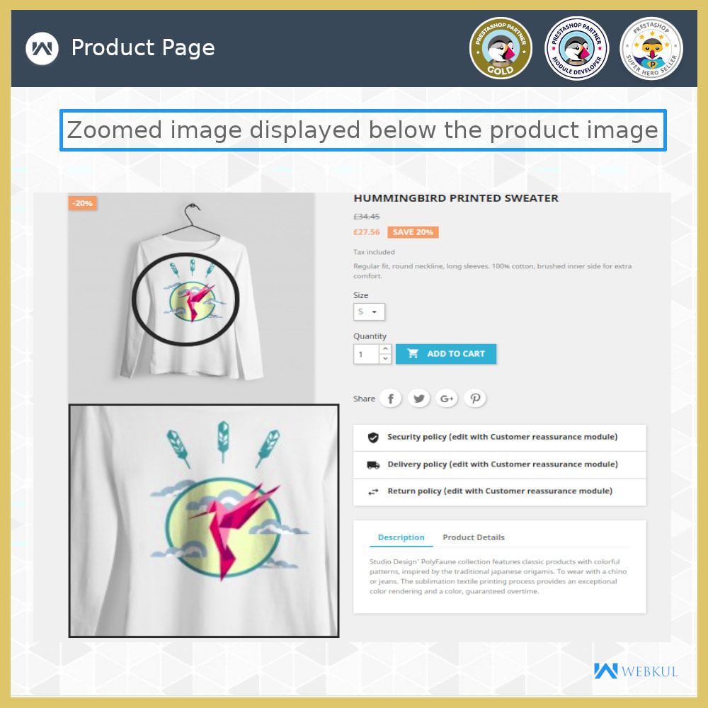 module - Visual dos produtos - Product Image Zoom - 4