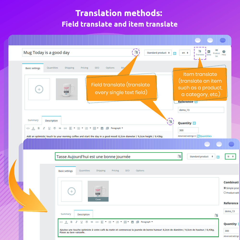 module - International & Localization - G-Translate: Translate entire PrestaShop easily! - 4