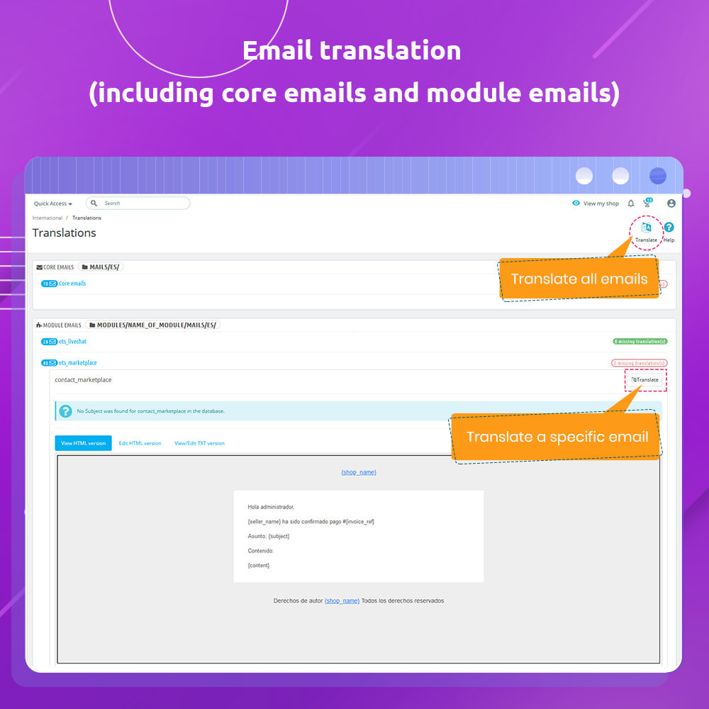 module - International & Localization - G-Translate: Translate entire PrestaShop easily! - 10