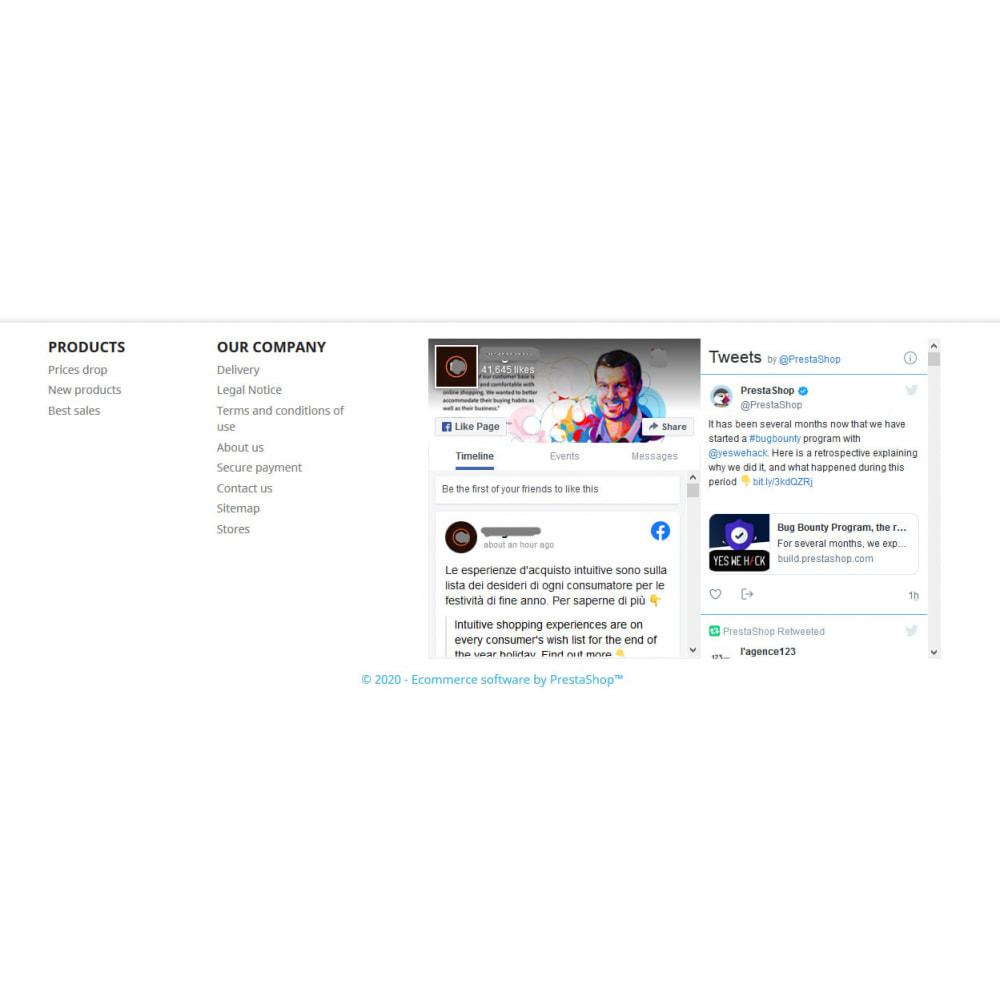 module - Widgets réseaux sociaux - Social Wall Feeds | Posts & Tweets - 2