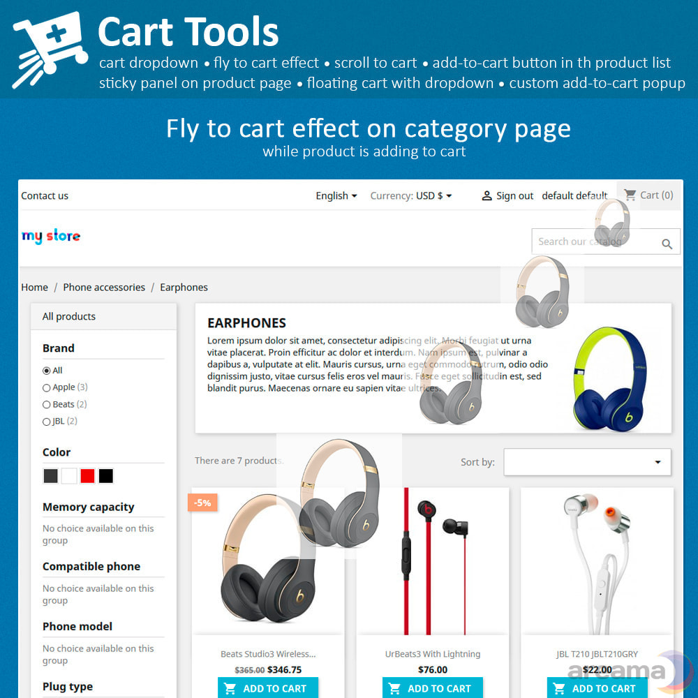 module - Pop-up - Cart Tools - cart dropdown, fly to cart, cart popup... - 3