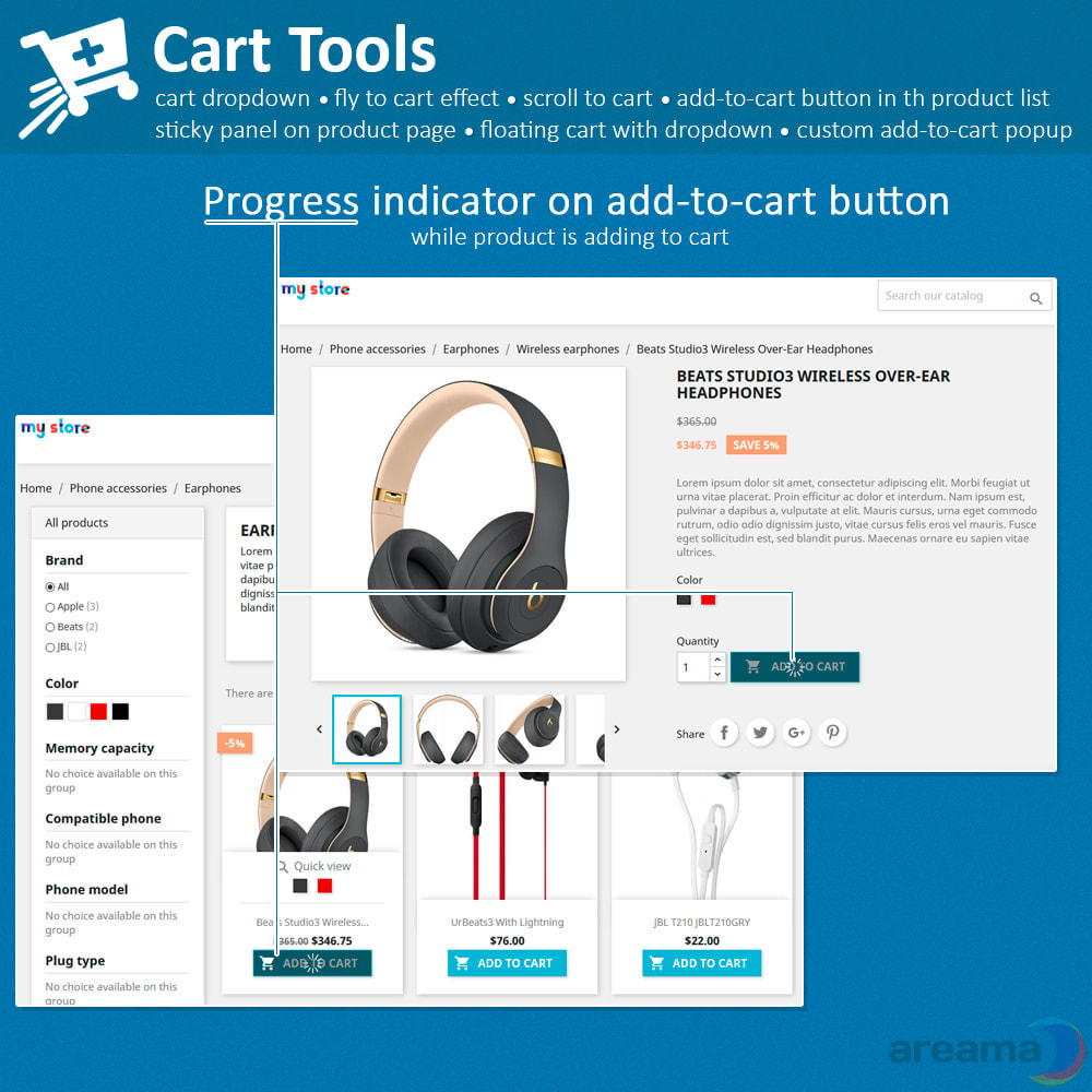 module - Pop-up - Cart Tools - cart dropdown, fly to cart, cart popup... - 5