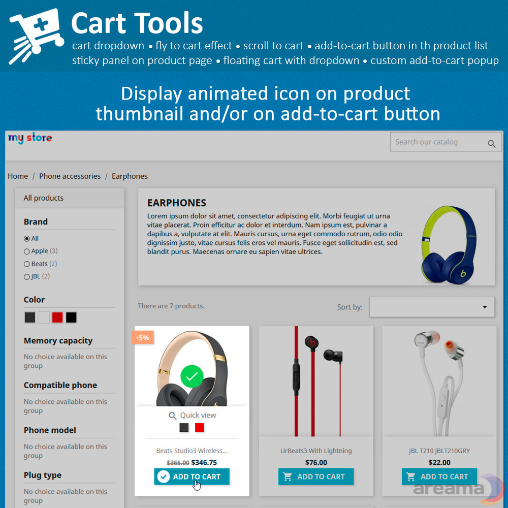 module - Pop-up - Cart Tools - cart dropdown, fly to cart, cart popup... - 6