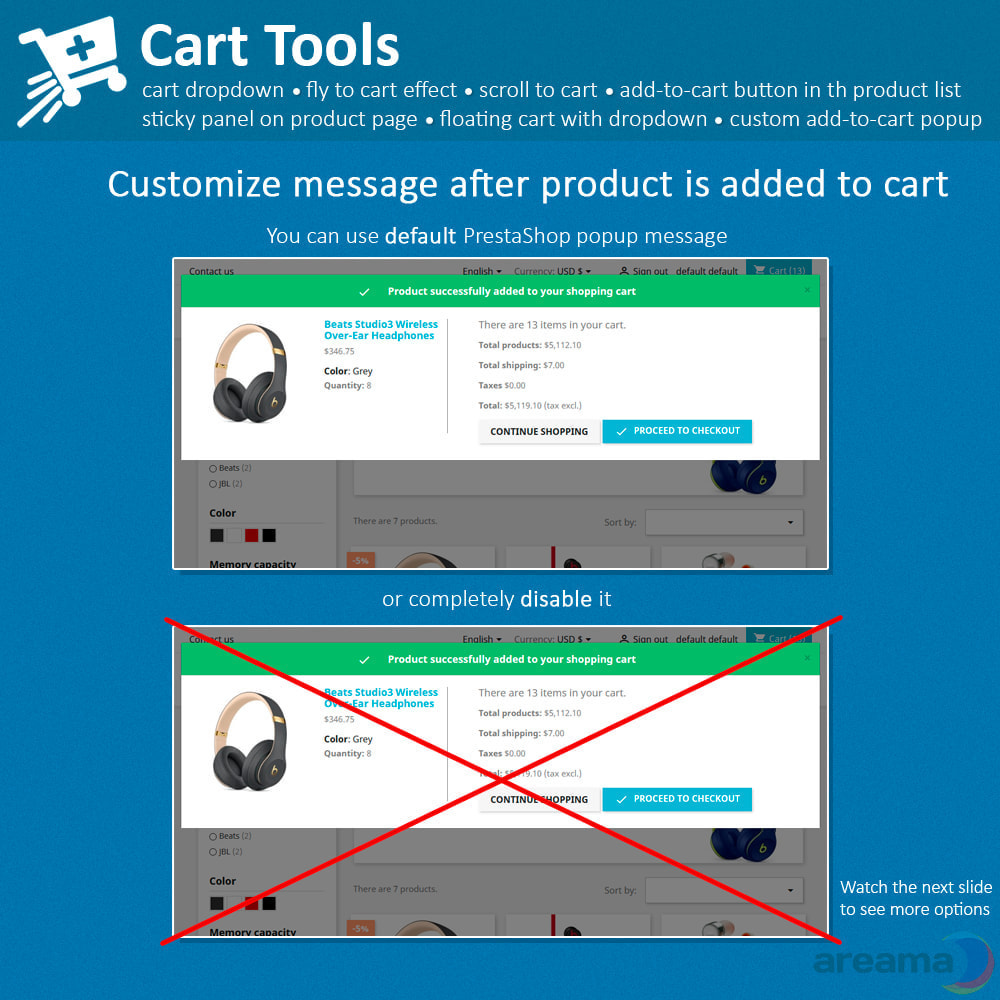module - Pop-up - Cart Tools - cart dropdown, fly to cart, cart popup... - 10