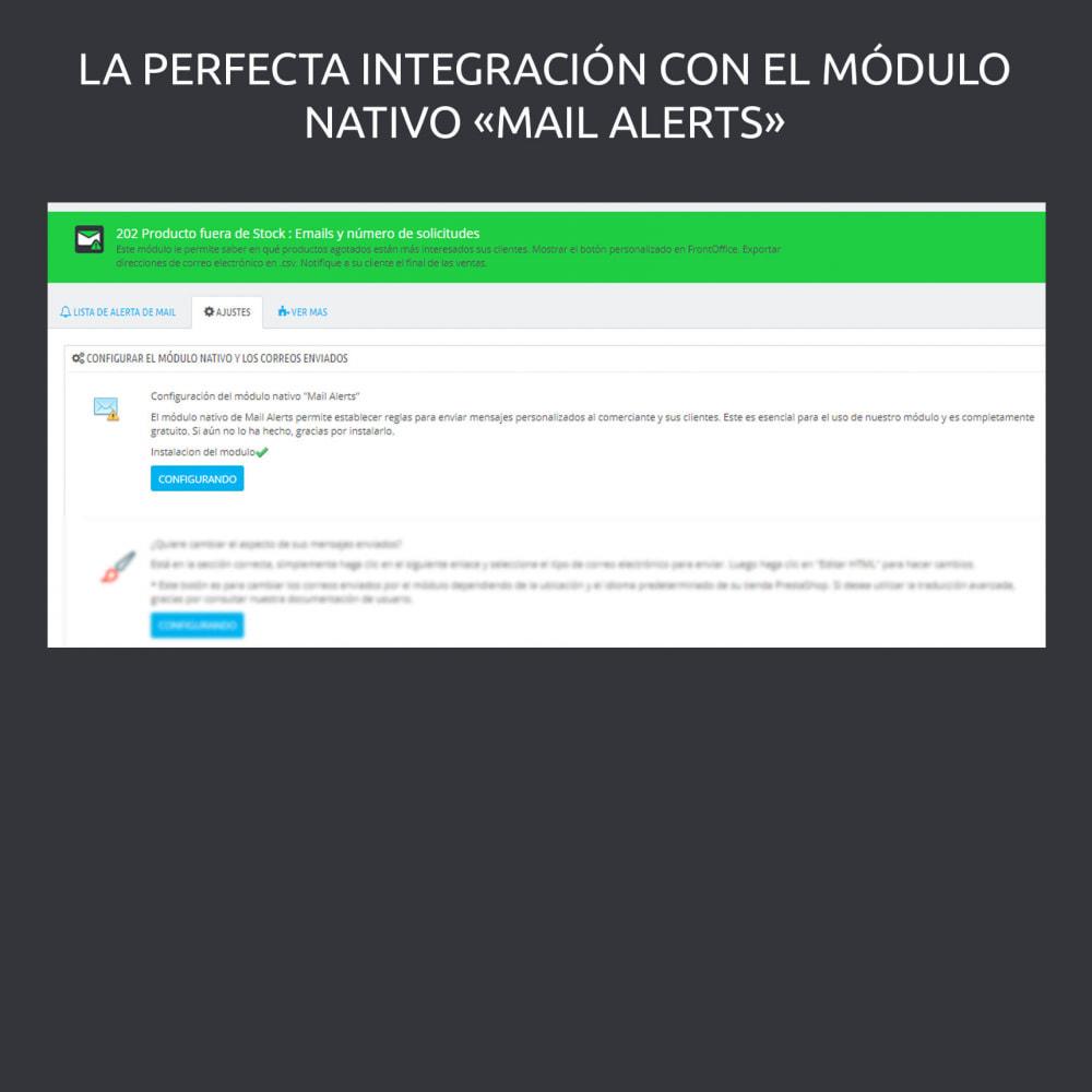 module - Gestión de Stock y de Proveedores - Productos Agotados : e-mail y número de aplicaciones - 4
