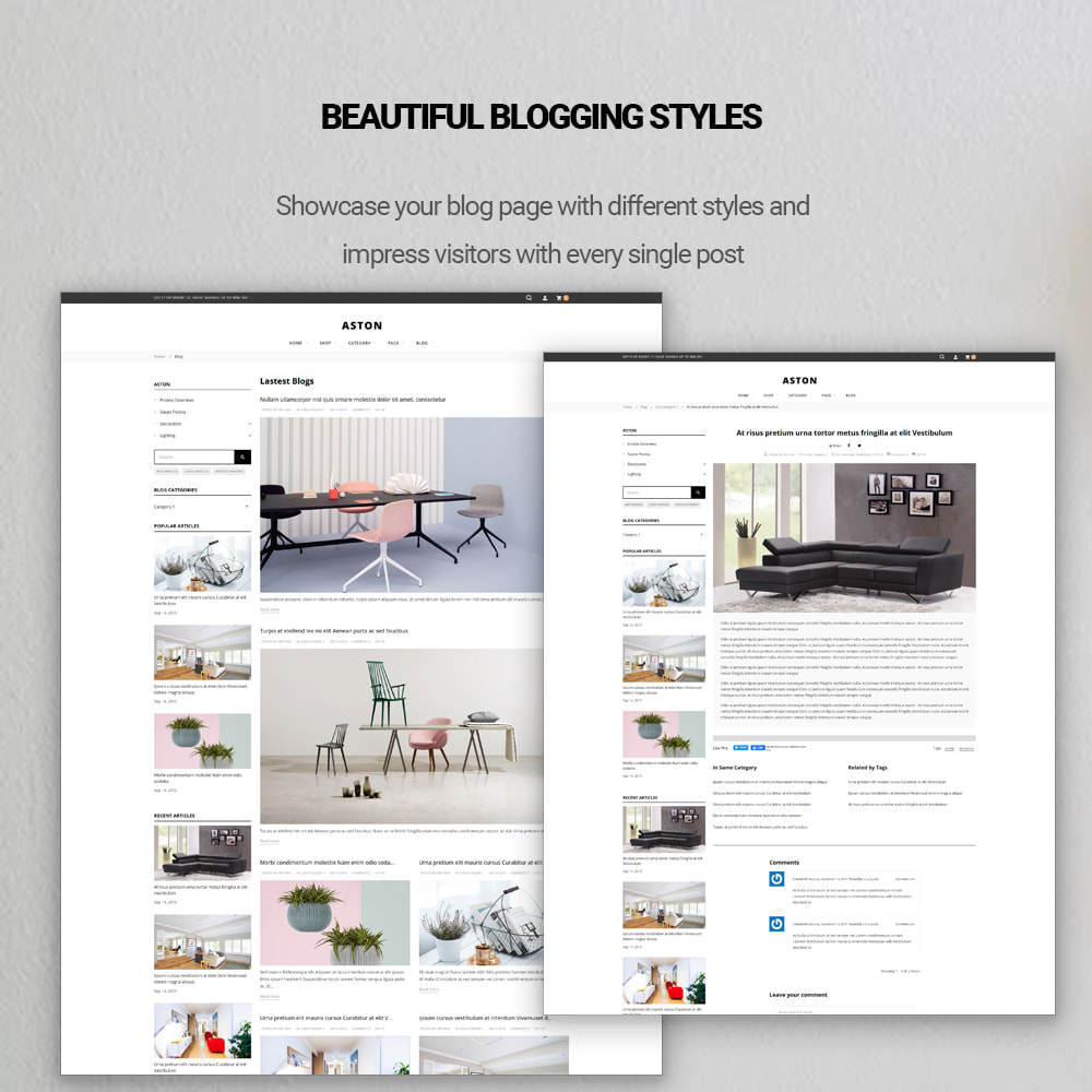 theme - Fashion & Shoes - Aston - Fashion Store & Furniture Shop - 3