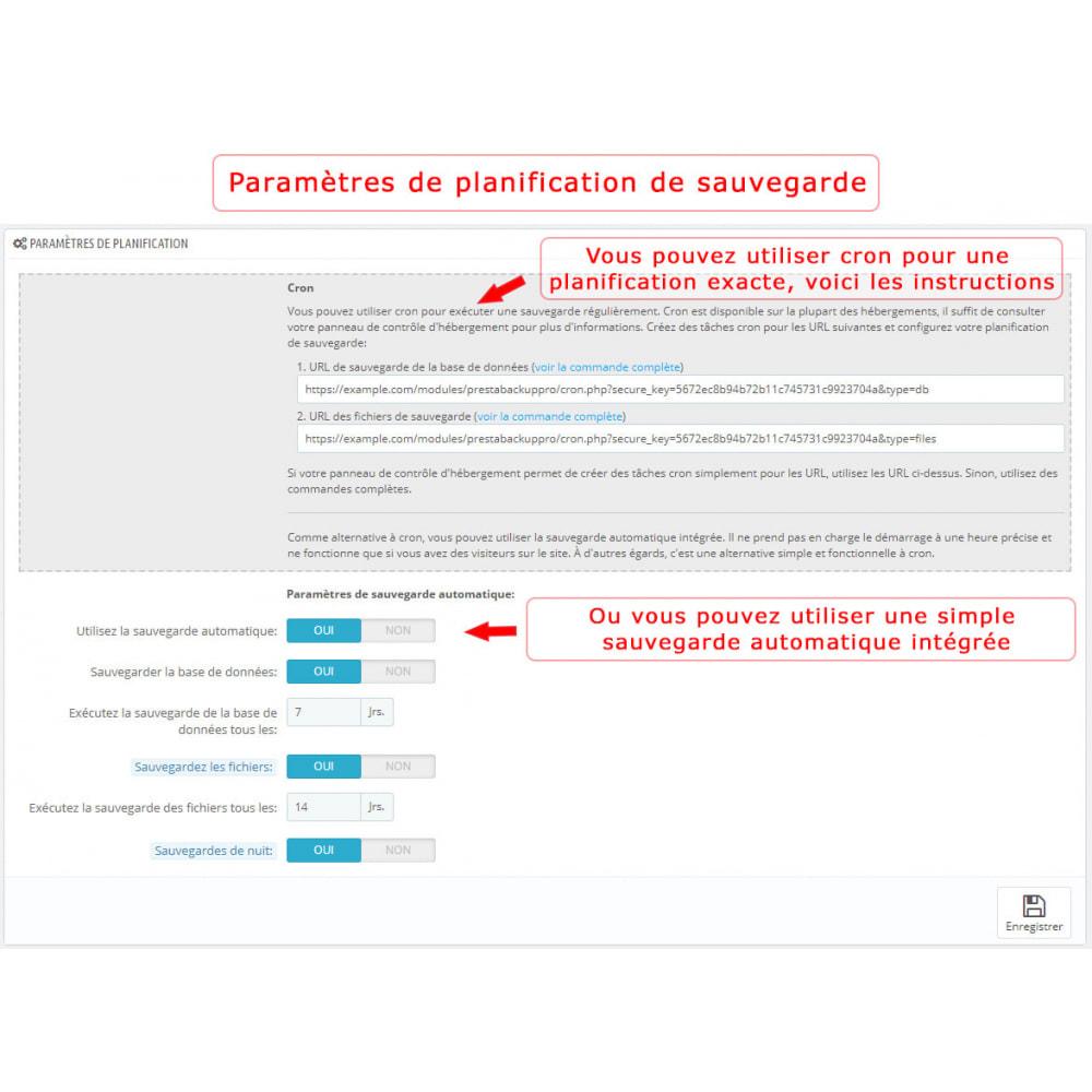 module - Migration de Données & Sauvegarde - PrestaBackup PRO (+ Google Drive) - 3