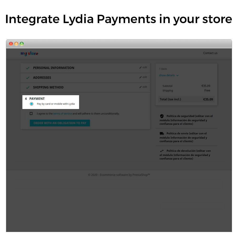 module - Оплата - Lydia Pro - Instant Global Payment Solution - 2