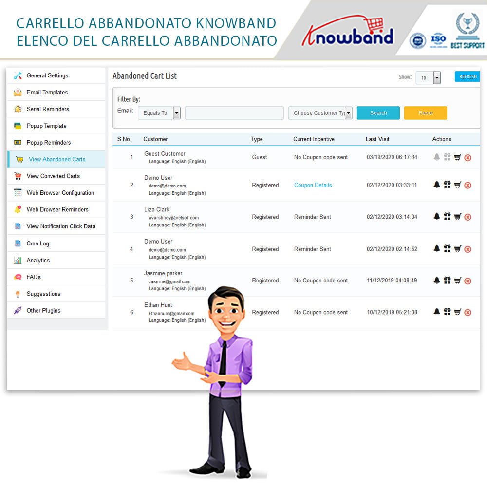 module - Remarketing & Carrelli abbandonati - Knowband-Reminder Periodici Carrello Abbandonato - 21