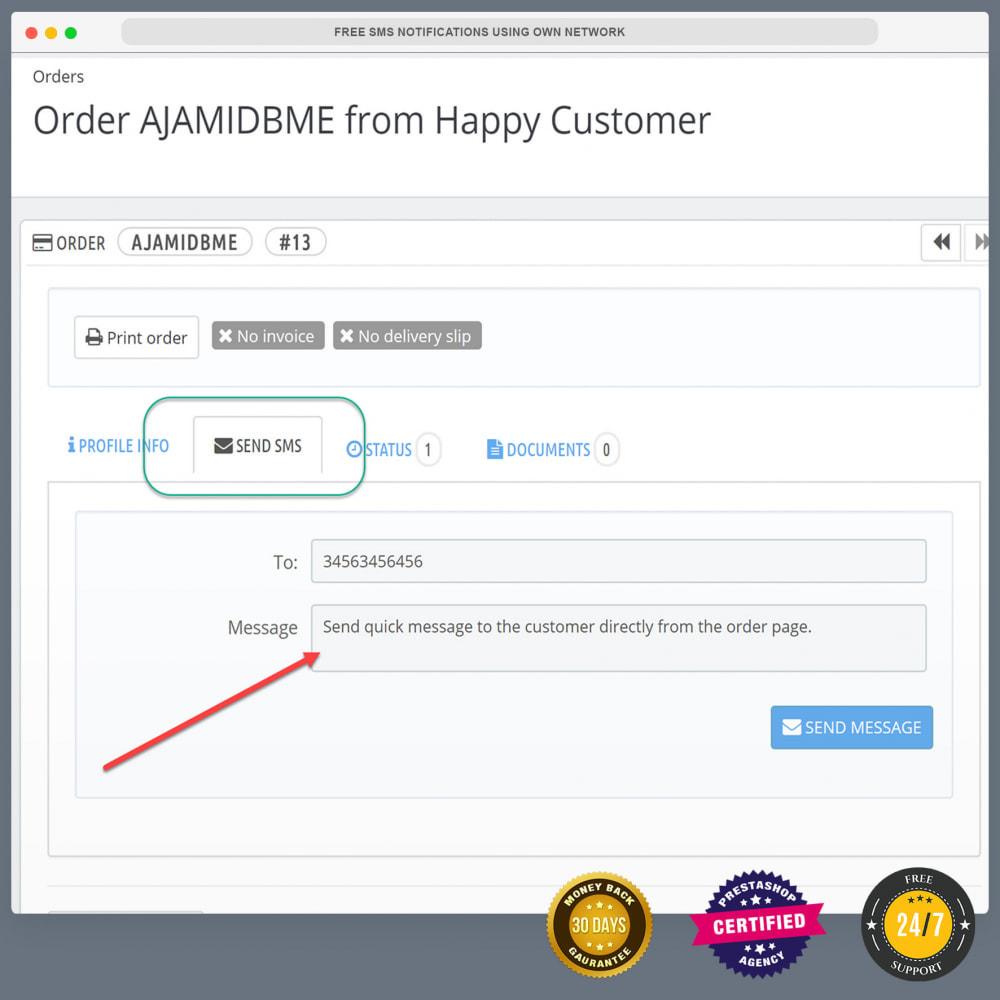 module - Newsletter & SMS - Notifiche SMS gratuite tramite la propria rete - 30