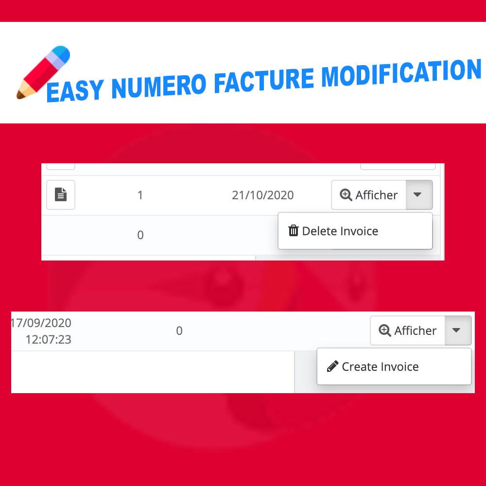 module - Оплата счетом-фактурой - Edit Delete and create invoice number - 2