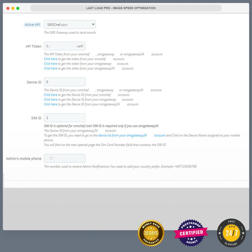 module - Newsletter & SMS - Notifiche SMS gratuite tramite la propria rete - 13