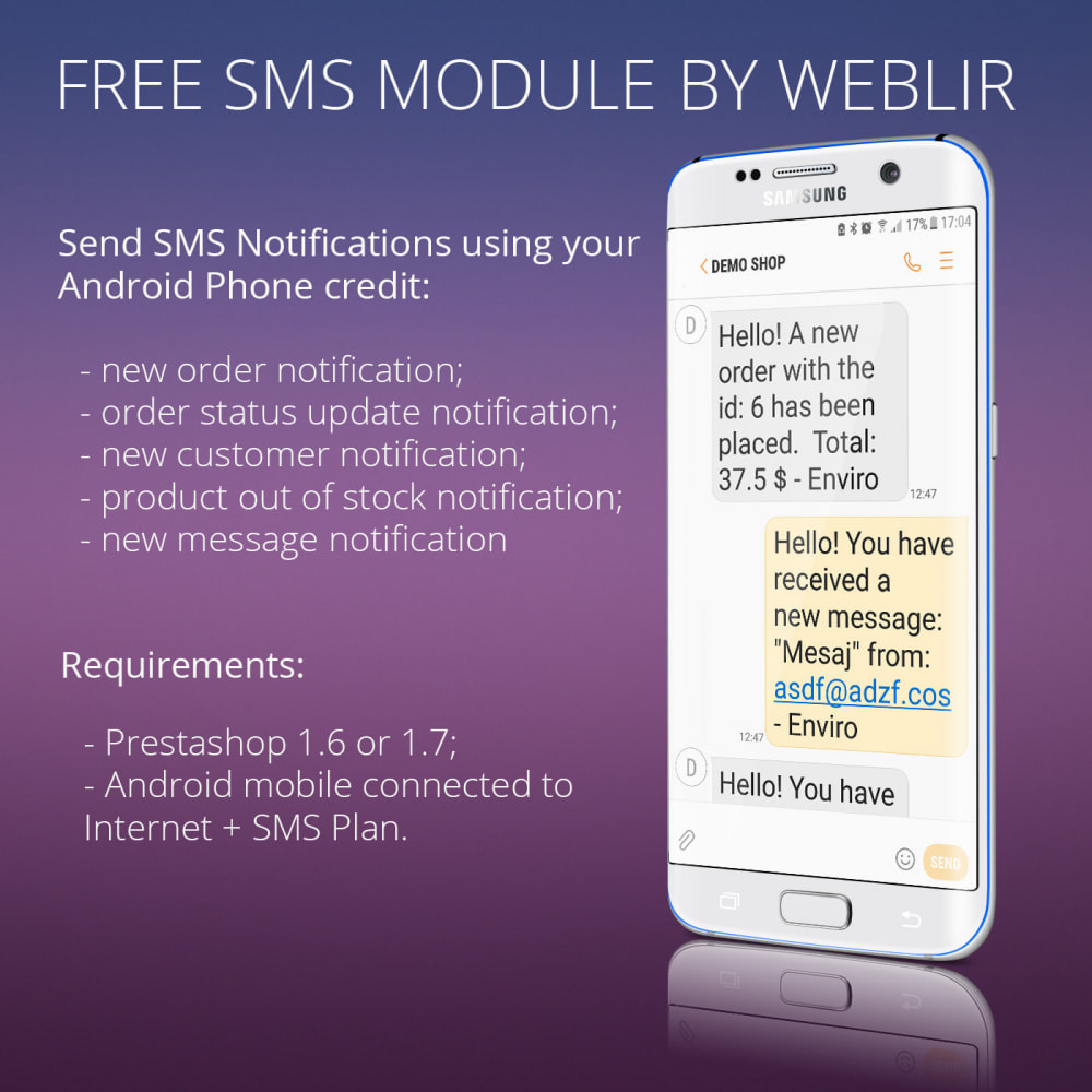 module - Nieuwsbrief & SMS - Gratis sms-meldingen via eigen netwerk - 7