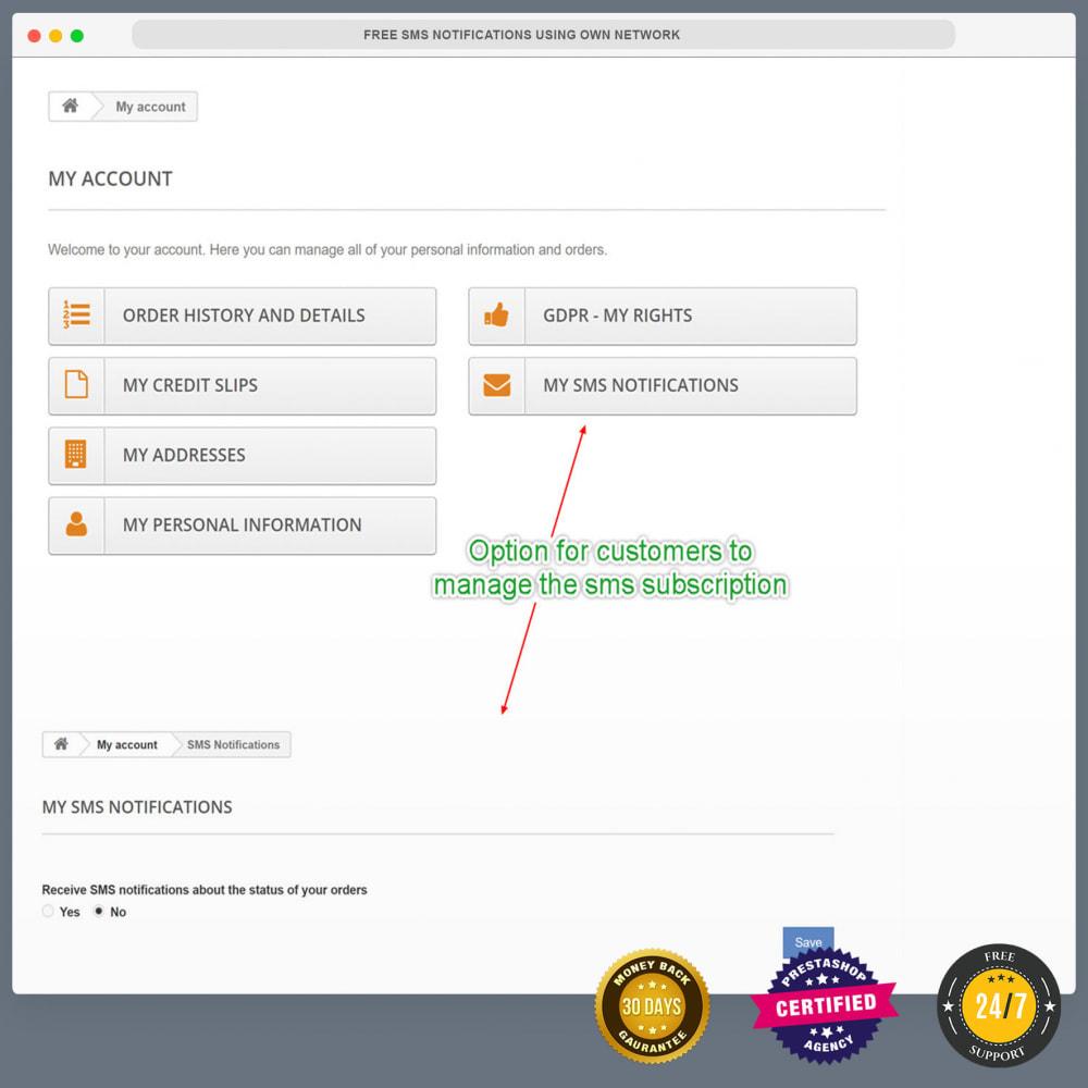 module - Nieuwsbrief & SMS - Gratis sms-meldingen via eigen netwerk - 26