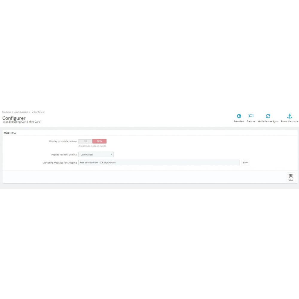 module - Personnalisation de Page - Panier d'achat Ajax ( Mini-Panier ) - 4
