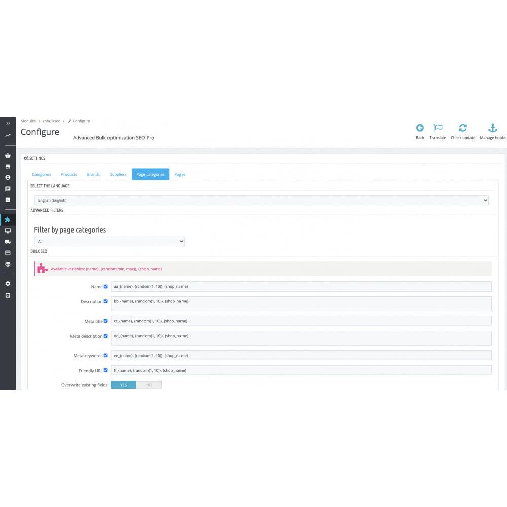 module - SEO - Advanced Bulk/Batch optimization SEO Pro - 14