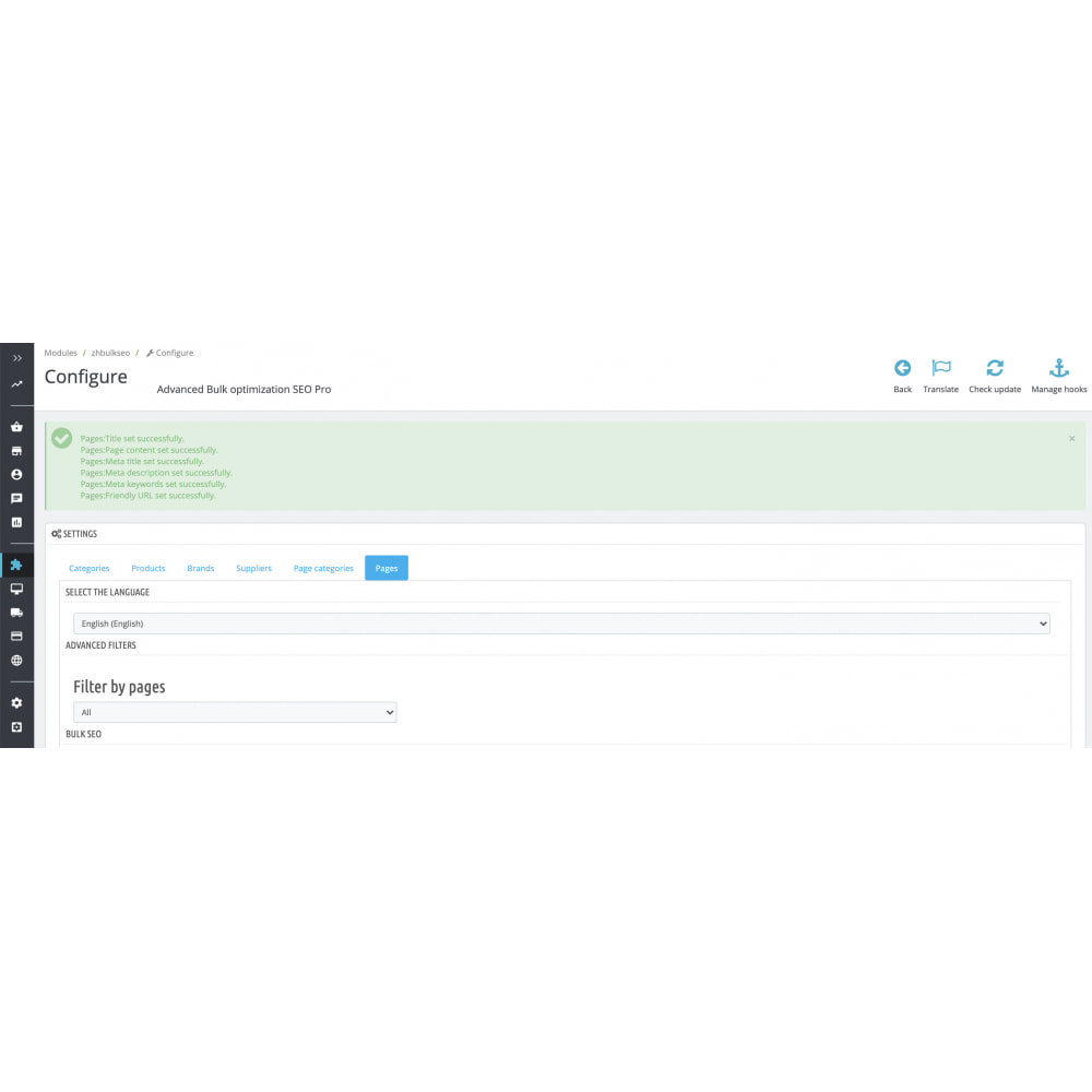 module - SEO - Advanced Bulk/Batch optimization SEO Pro - 18