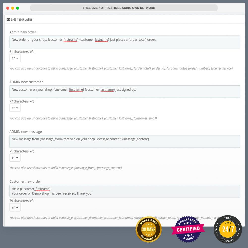 module - Newsletter & SMS - Notifications SMS gratuites en utilisant propre réseau - 6
