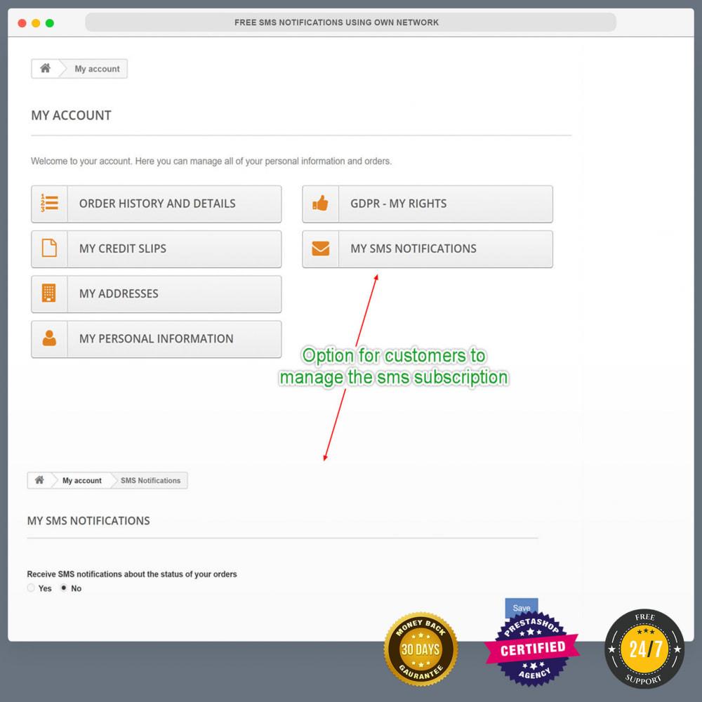 module - Newsletter & SMS - Notifications SMS gratuites en utilisant propre réseau - 5