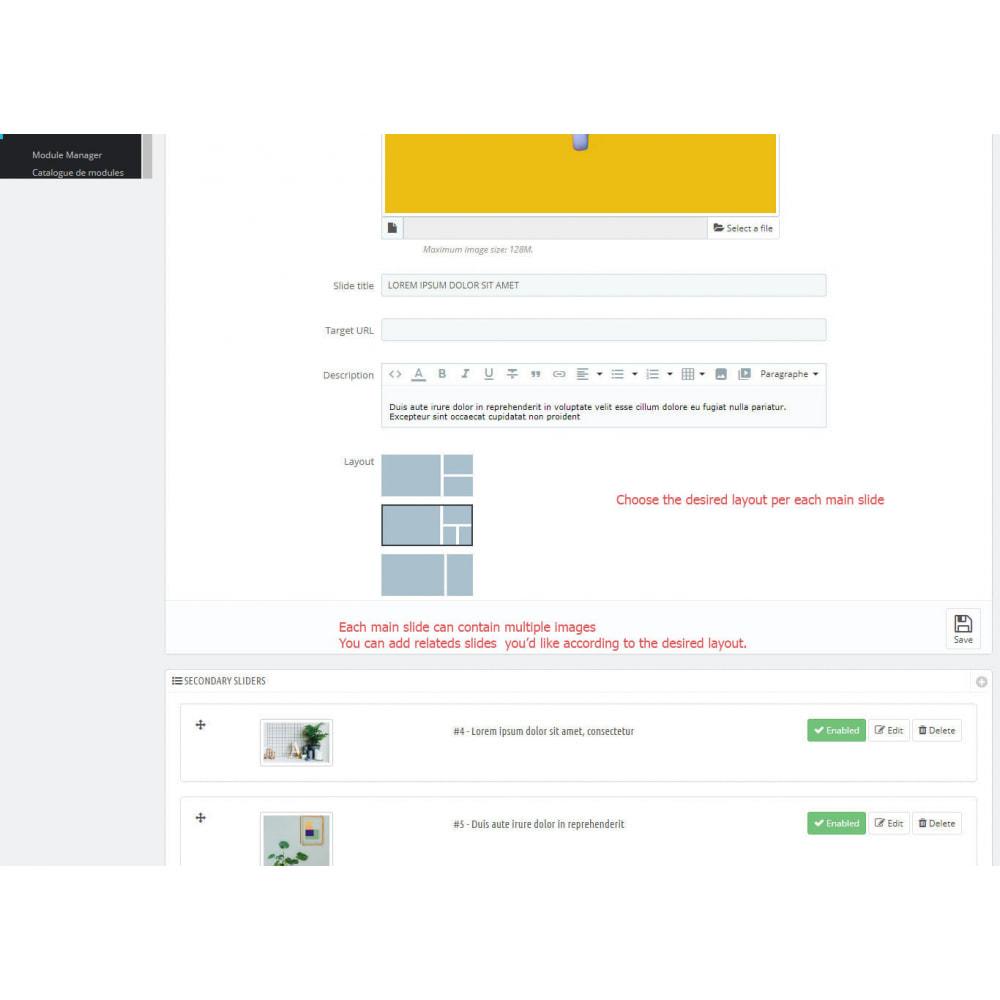 module - Sliders & Galeries - Slider avec plusieurs images par chaque diapositive - 3