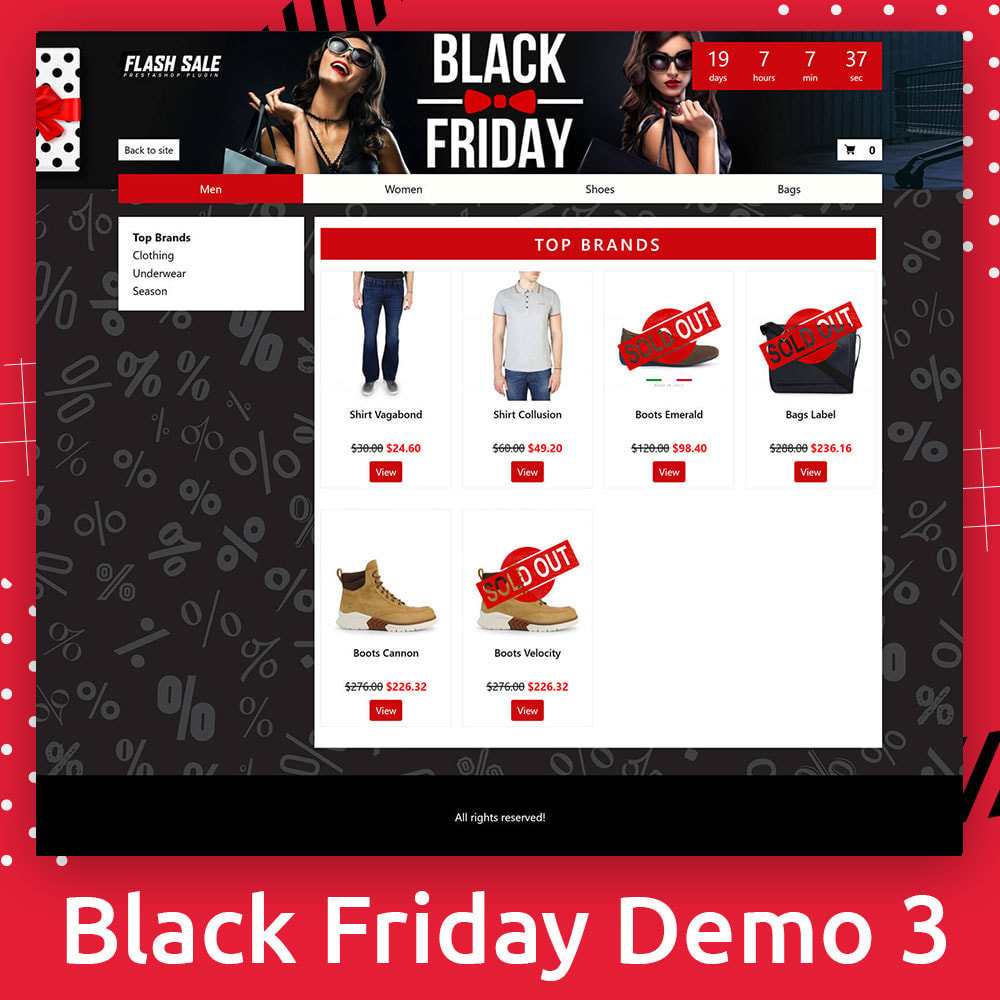 module - Promoties & Geschenken - Flash SALES Page Builder PRO - Black Friday - 4