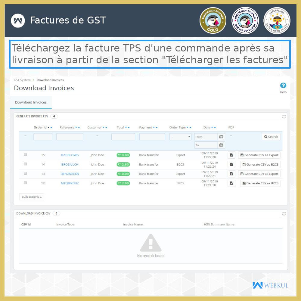 module - Comptabilité & Facturation - GST - Retours et factures - 6