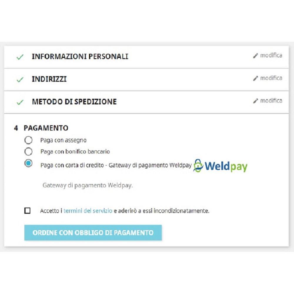 module - Pagamento con Carta di Credito o Wallet - Gateway di pagamento WeldPay - 1