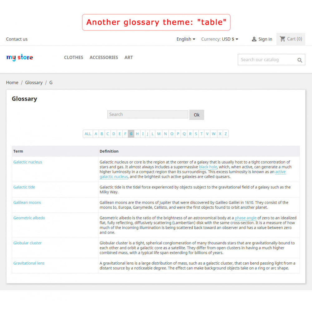 module - Page Customization - Super Glossary - 3