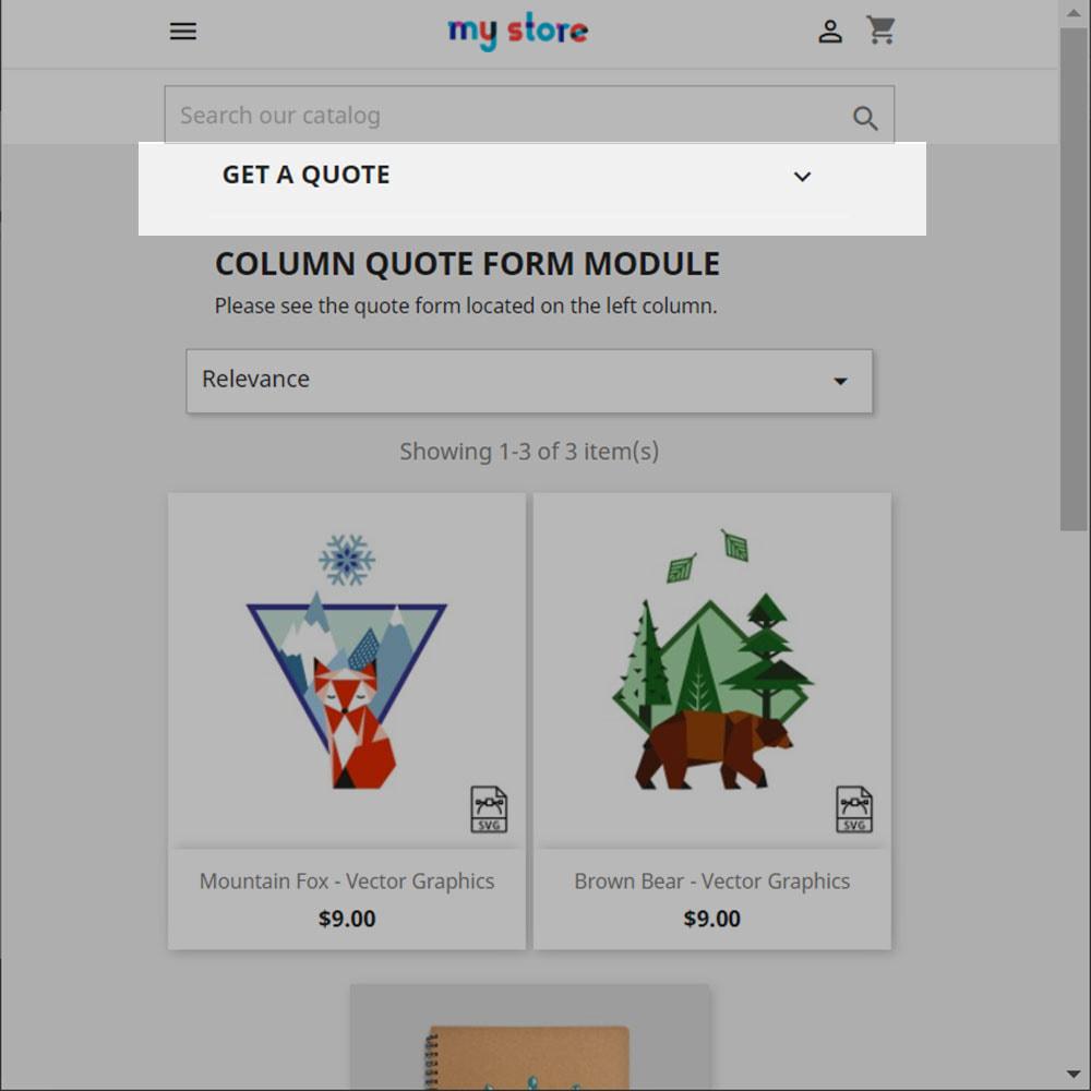 module - Devis - Prix & Commande - Colonne Formulaire de Devis - 3