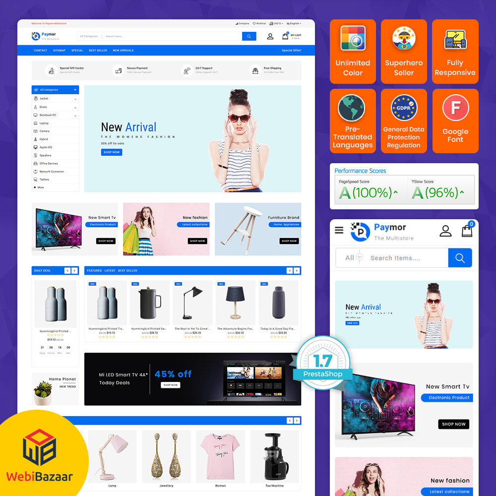 theme - Electronics & Computers - PayMore - Mega Ecommerce Store - 1