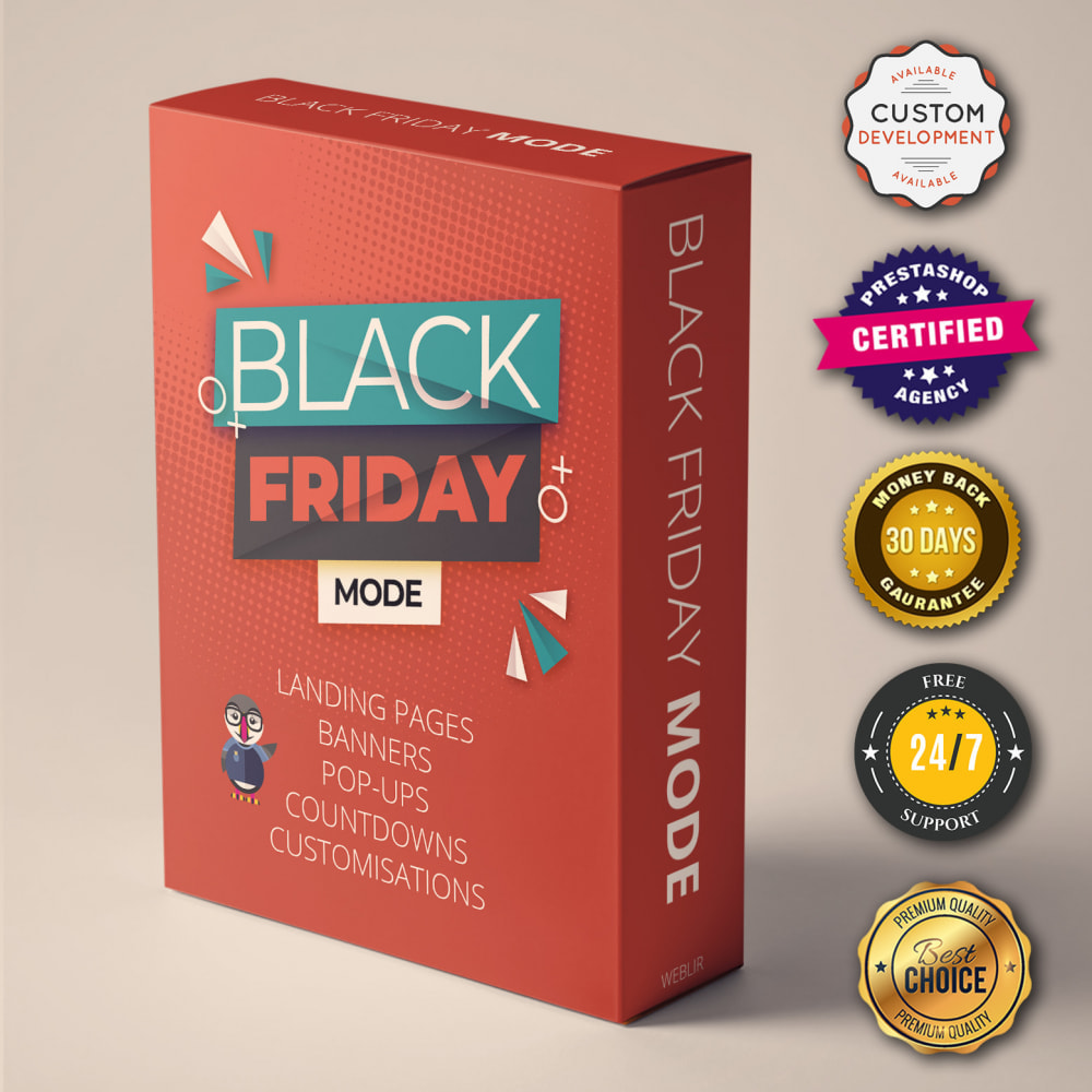 module - Promotion & Geschenke - Black Friday Mode - Promotions Seite, Countdown, Popup - 1