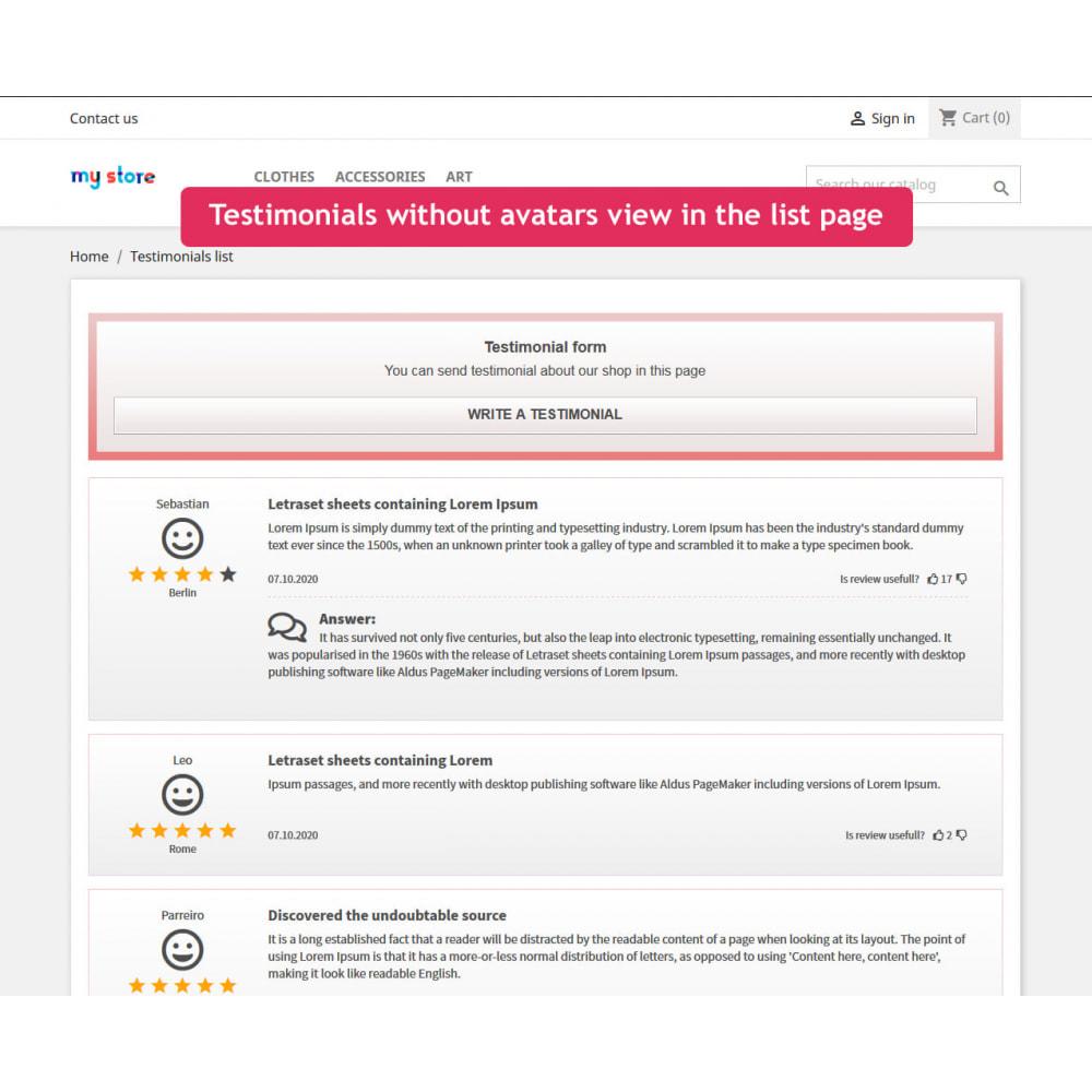 module - Opiniões de clientes - Testimonials slider with list page module - 4