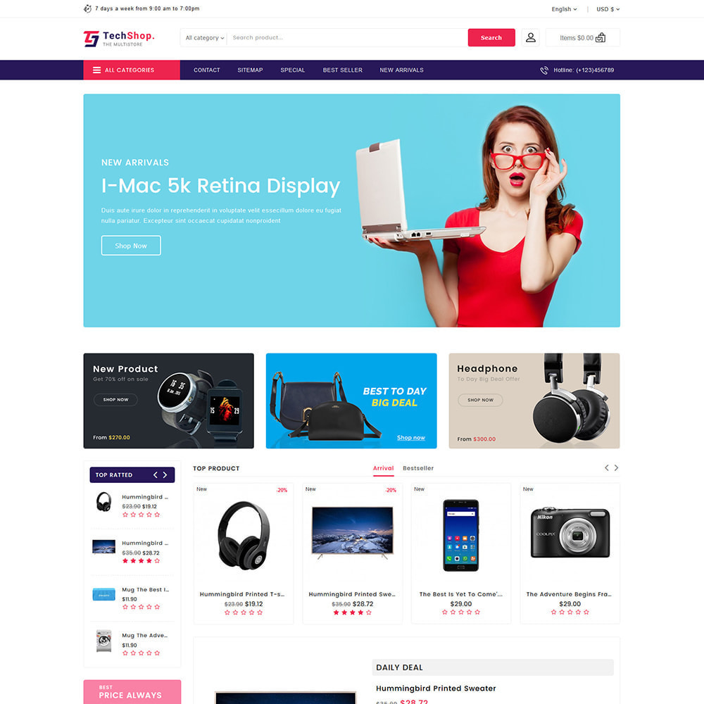 theme - Электроника и компьютеры - TechShop  - New Shopping Supermarket Store - 3