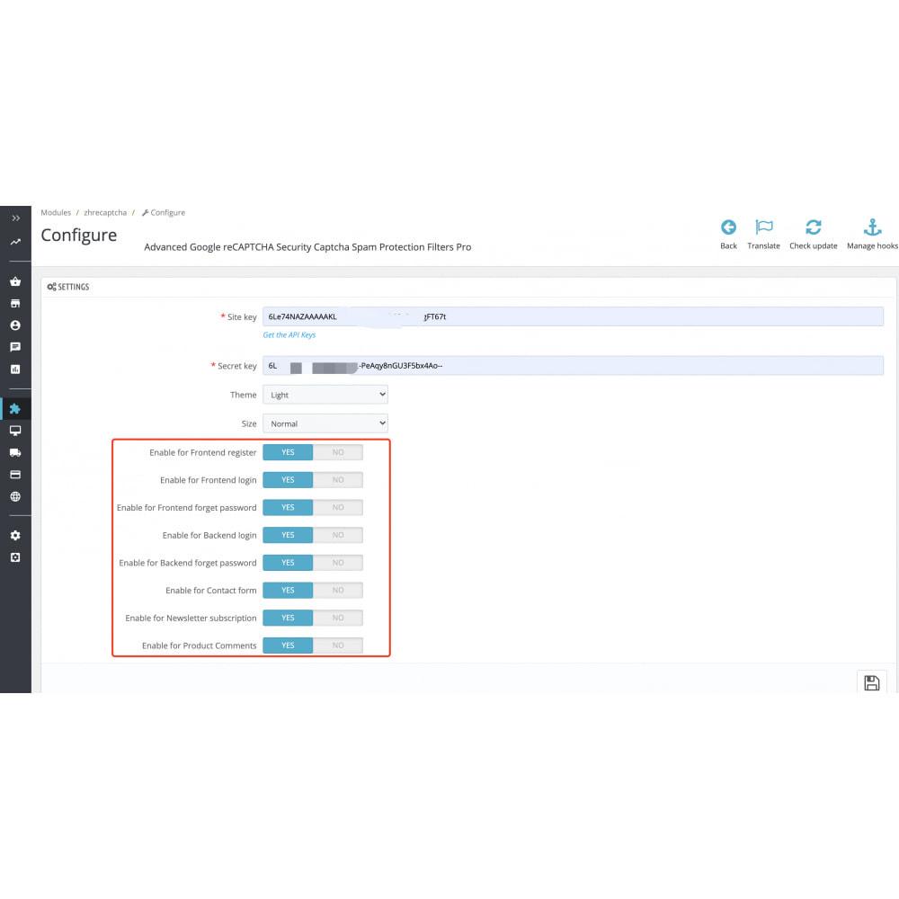 module - Security & Access - Google reCAPTCHA Security Captcha Spam Protection - 2