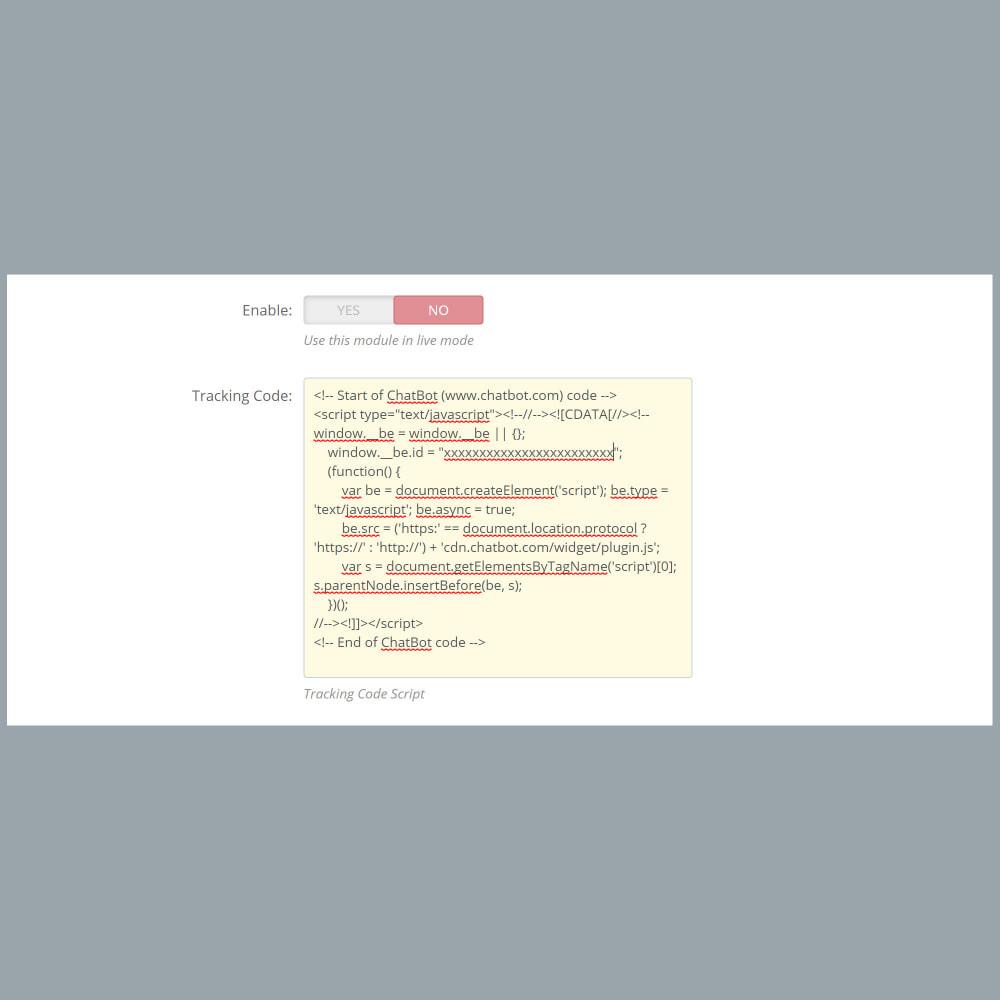 module - Виджеты для социальных сетей - ChatBot Widget Integration - 3